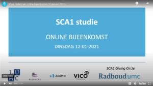 SCA1 webinar